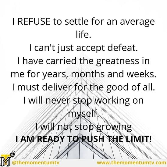 """""""I refuse to give up."""" """"I refuse to accept defeat"""". declaring this loudly as daily motivation will help you to get them registered in your..."""